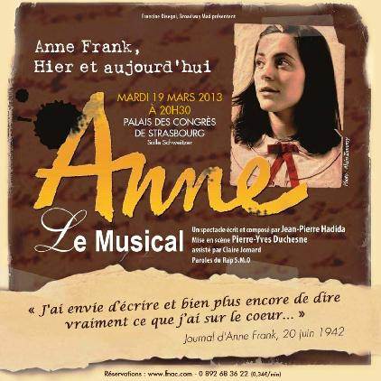Anne le musical ou red couvrir anne frank communaut s for Anne frank musical